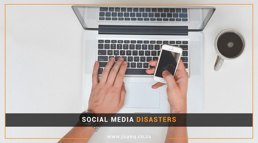 THREE SOCIAL MEDIA DISASTERS